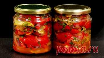 Можно хранить или сразу есть: обжариваю лук со специями и соединяю с помидорами (даже с магазинными вкусная получается закуска) | Кухня наизнанку | Яндекс Дзен