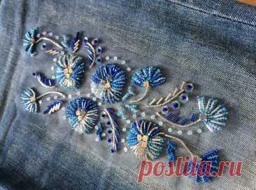 Оригинальные идеи и мастер-класс по вышивке стеклярусом   Рукоделие
