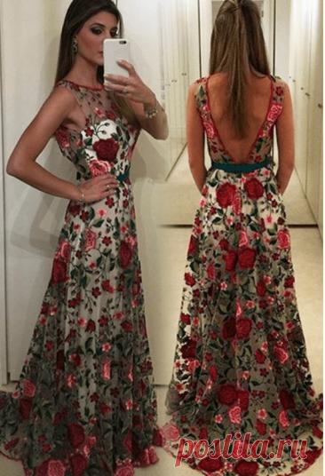 Длинные платья с принтом: 25 элегантных идей… (Мода и стиль) – Журнал Вдохновение Рукодельницы
