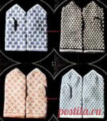 Вязание спицами - винтажные варежки с латышским жаккардом ...из японского журнала