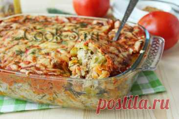 Запеканка с капустой и фаршем в духовке – рецепт с фото