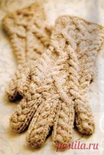 Вязаные перчатки дизайнера - Джареда Флада