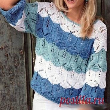 Красиво и ажурно. Вязание спицами. | Марусино рукоделие | Яндекс Дзен