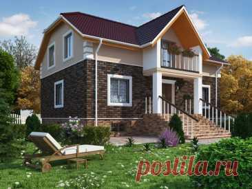 Проект дома «Миз» - Stone Wood House