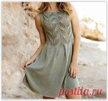 Нежное платье спицами | Вязание для женщин спицами. Схемы вязания спицами