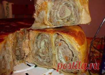 """Пирог """"Лаваш в заливке"""" можно использовать как закуску, и как основное блюдо!"""