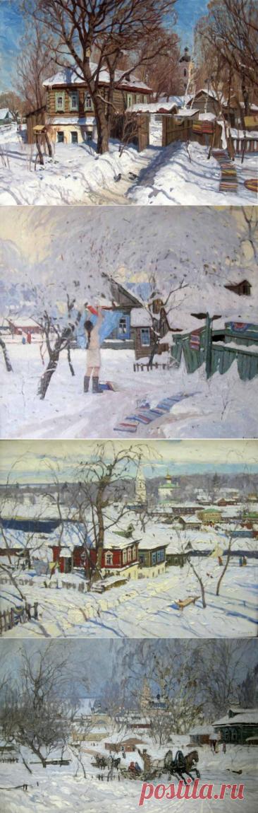 Зима. Художник Валерий Андреевич Копняк.