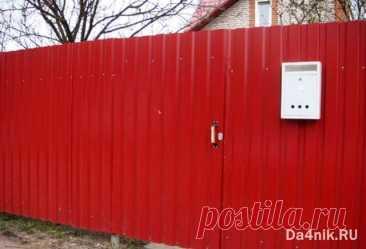 Как правильно крепить профлист на забор | 6 соток