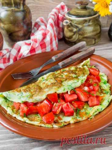 Рецепт кабачкового омлета с сыром 🔥 на Вкусном Блоге