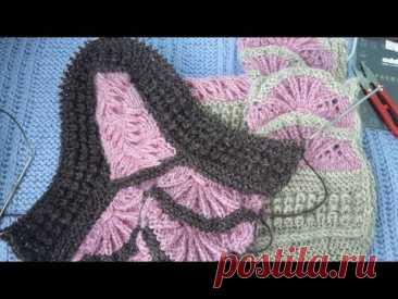 Сапожки спицами (2 часть Турецкая коса и кукурузка)