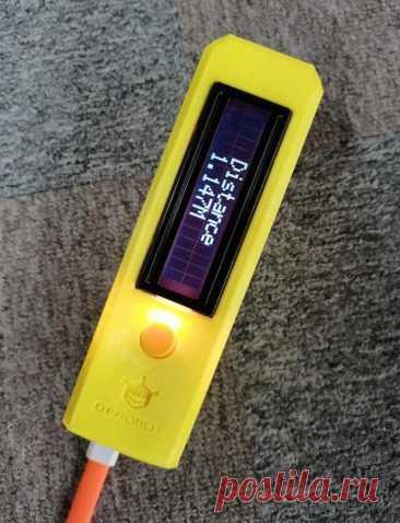 Сборка лазерной рулетки В этой статье мастер расскажет нам, как самостоятельно собрать лазерную рулетку. Устройство позиционируется мастером как очень точное. Инструменты и материалы:-Инфракрасный лазерный датчик расстояния;-Микроконтроллер Firebeetle ESP32 IoT (с поддержкой Wi-Fi и Bluetooth);-I2C 16 * 2 ЖК-дисплей