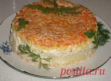 Простой и вкусный салатик с горбушей: советую приготовить на праздник!
