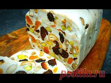 Творожный десерт с орехами и сухофруктами