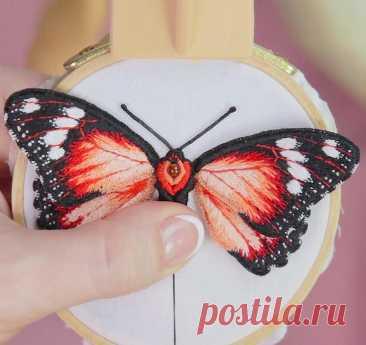 Вышивка бабочки. Видео мастер-классы