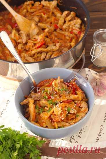 Быстрая свинина в кисло-сладком соусе — Кулинарные рецепты любящей жены