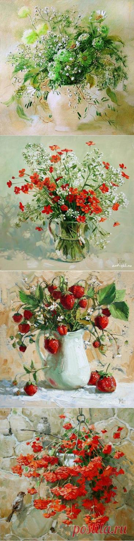Великолепные картины с цветами от художника Павловой Марии