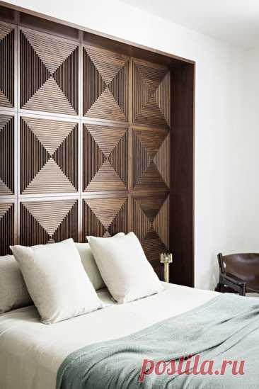 Деревянные панели для оформления спальни | Роскошь и уют