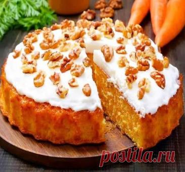 Полезный морковный пирог.
