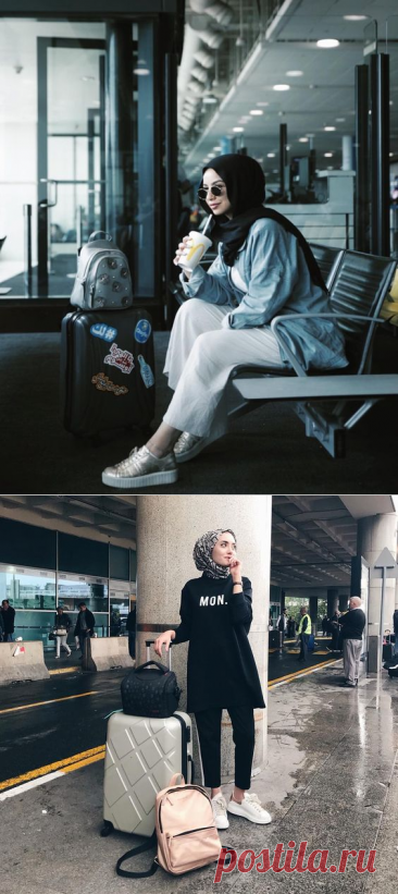 Chic Hijab Airport Outfit Ideas You Can Copy - Hijab-style.com
