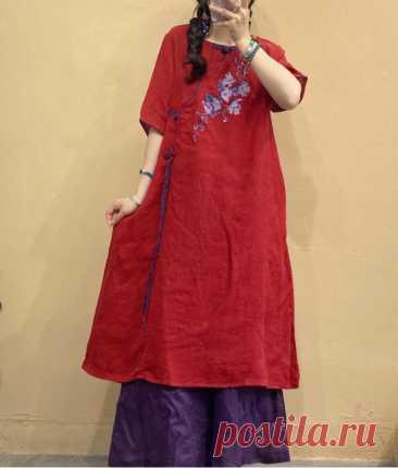 Linen Dress for Women Summer midi dress linen dress with | Etsy
