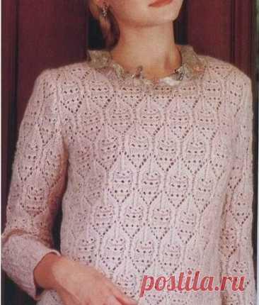 Подборка весенних пуловеров, туник, жилетов спицами, со схемами | Sana Lace Knit | Яндекс Дзен