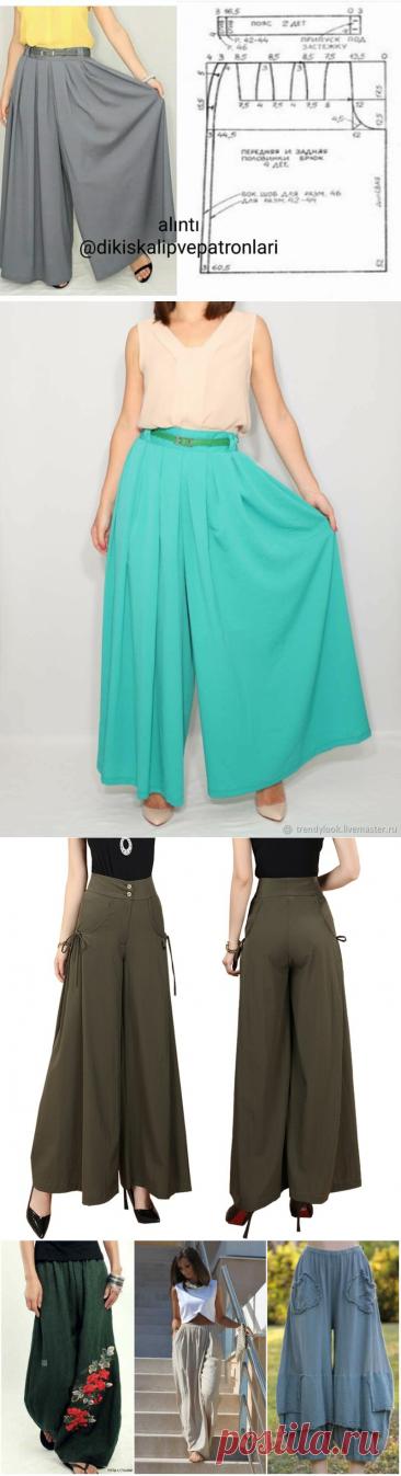 Юбка-брюки: подборка моделей с выкройками   Златоручка   Яндекс Дзен