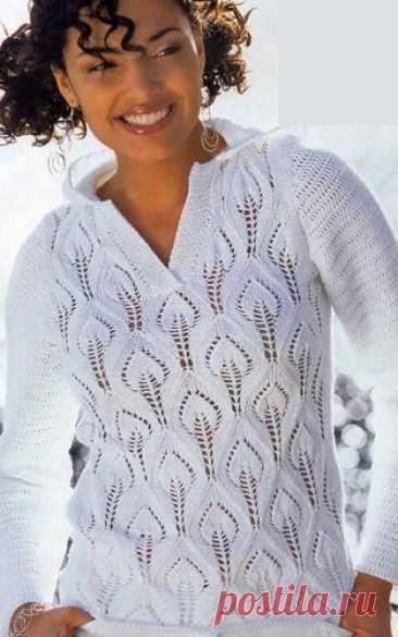 Пуловер с интересным узором