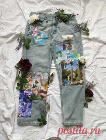 Ренессансная живопись вдохновила джинсы | Etsy