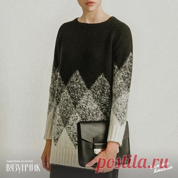 Черно-белая феерия: вязальный шедевр при помощи двух базовых цветов | Вязунчик — вяжем вместе | Яндекс Дзен