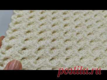 МК. Детский плед крючком (часть1). Бесплатный МК крючком. Новый узор крючком. Crochet baby blanket