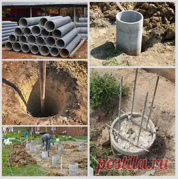 Фундамент из асбестоцементных труб своими руками: технологические этапы | Строительство, дизайн, интерьеры