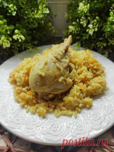 """Готовим рассыпчатый рис с курицей. Полезнее жирного плова, но не менее вкусно.   """"ОколоПП""""   Яндекс Дзен"""