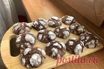 Мраморное или треснутое шоколадное печенье – рецепт с фото