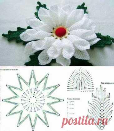 Вяжем солнечную ромашку (и другие цветы) крючком
