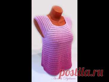 ВЯЗАНИЕ | ТОП КРЮЧКОМ ИЗ ХЛОПКА |  Мастер класс. Crochet top. Master Class.
