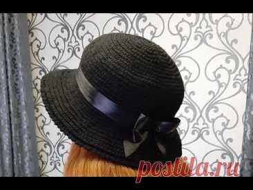 Теплая шляпка крючком