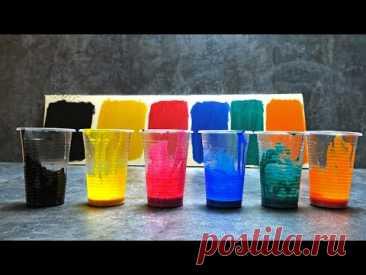 Бюджетный способ, как сделать за 1 минуту акриловую краску любого цвета