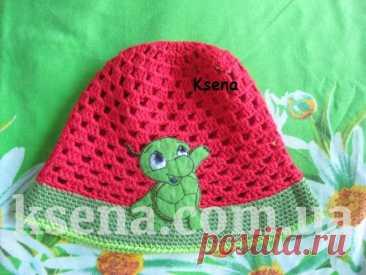 Панамка с аплекацией - Ksena