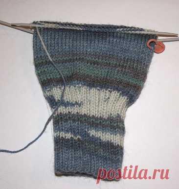 tru-knitting: Носочная пятка с клином. Мастер-класс с фото