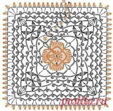 ТОП-10 восхитительных квадратных мотивов - красота для вдохновения!   Вязалки Веселого Хомяка   Яндекс Дзен