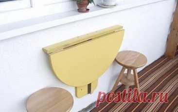Самодельный складной столик для балкона. - Мужской журнал JK Men's Даже самый небольшой балкон можно превратить в уютное местечко для чаепитий и чтения. И без компактного складного столика здесь никак