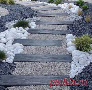 Зачем платить деньги, если можно сделать красивую садовую дорожку бесплатно | Уютный дом в цветущем саду | Яндекс Дзен