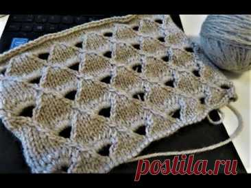 КРАСИВЫЙ УЗОР ДЛЯ ДЖЕМПЕРА ИЛИ   ТУНИКИ. ажурный узор спицами. вязание спицами. вязаные идеи kniting