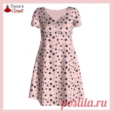 Бесплатный PDF шаблон шитья: платье с талией в стиле ампир Ивонны – Шкаф Тианы