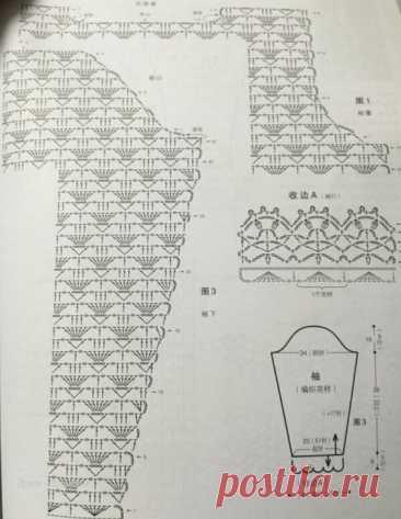 Жакеты связанные крючком со схемами | Вязание | Яндекс Дзен