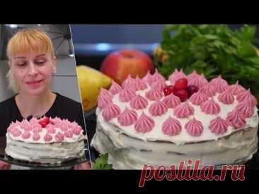 Бисквитный торт на сковороде! Простой рецепт десерта к чаю на день рождения!