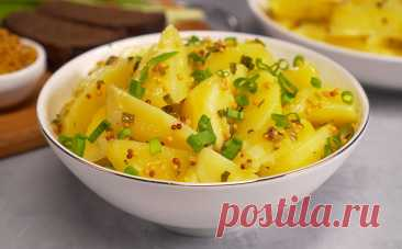 Горчичный картофель как в немецких ресторанах. Отвариваем за 15 минут и добавляем заправку