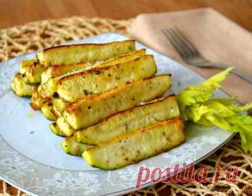 The baked fragrant zucchinis | the Official site of culinary recipes of Yulia Vysotskaya