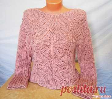 . Вязаный свитер цвета пыльной розы - Вязание - Страна Мам