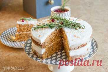 Морковно-кокосовый веганский торт от ⋆ Великолепная еда и места